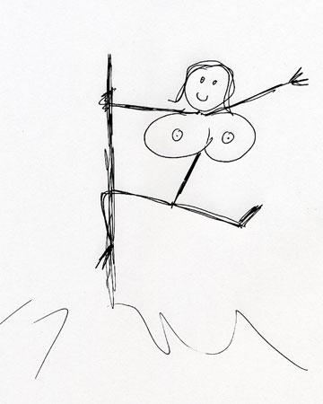 Pole Dancer Sketch