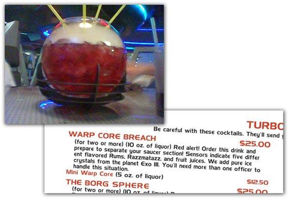 Warp Core Breach Menu Item