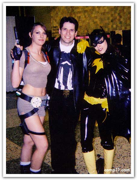 Tim, Lara, and Batgirl